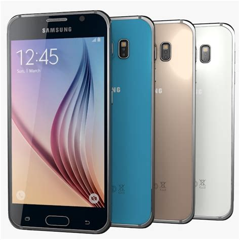 Samsung Galaxy S6 Colors 3d samsung galaxy s6 colors model