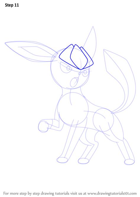 draw on your pictures step by step how to draw glaceon from
