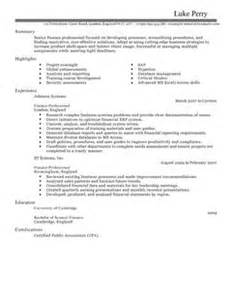 accounting finance cv exles cv templates livecareer