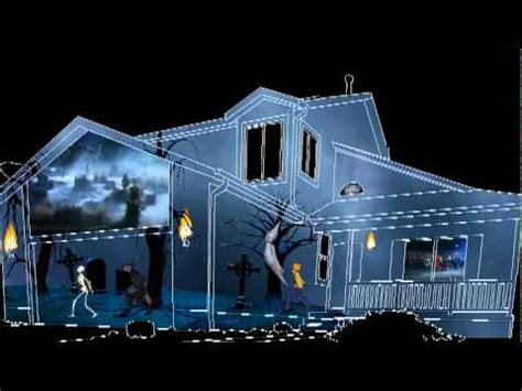 2011 halloween house projection video finished youtube
