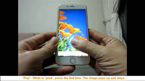 iphone 6s how to enable 3d touch and use peek and pop a 1min