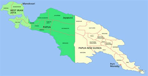 papua new guinea map island papua new guinea map