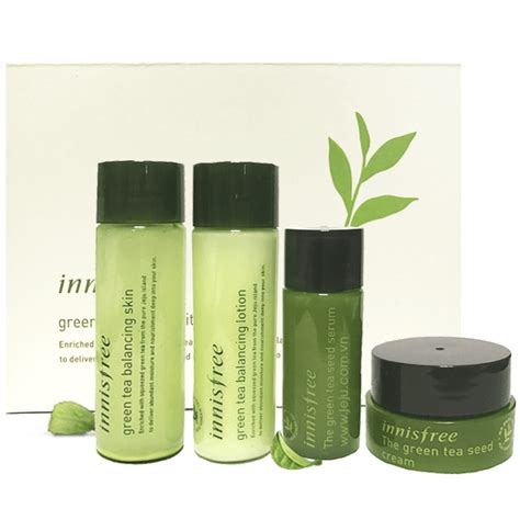 Harga Innisfree Green Tea Balancing Special Kit bộ d 249 ng thử innisfree green tea balancing special kit