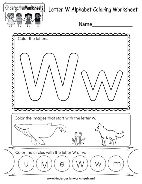 Letter W Coloring Pages Printable by Letter W Coloring Worksheet Free Kindergarten