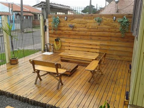 Patio From Pallets by Pallets Made Garden Deck Pallet Ideas Recycled