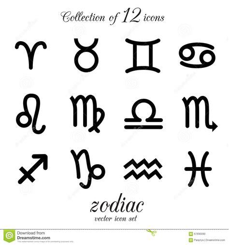 ikonen von verschiedenen zeichen des tierkreises sch 252 tze
