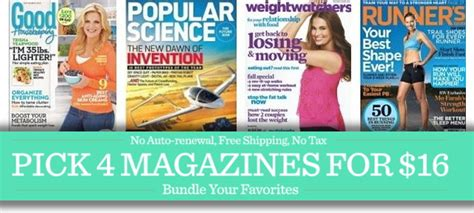 magazine discount weekend magazine sale 4 titles for just 16