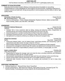 junior accounting resume sle internships