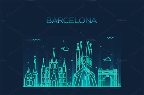 Barcelona Creative 3 barcelona city skyline illustrations on creative market