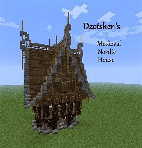 minecraft nordic house medieval nordic ornate house minecraft project