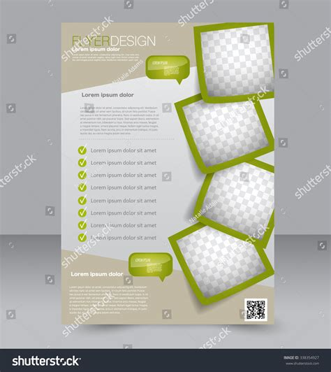 editable magazine template flyer template brochure design editable a4 stock vector