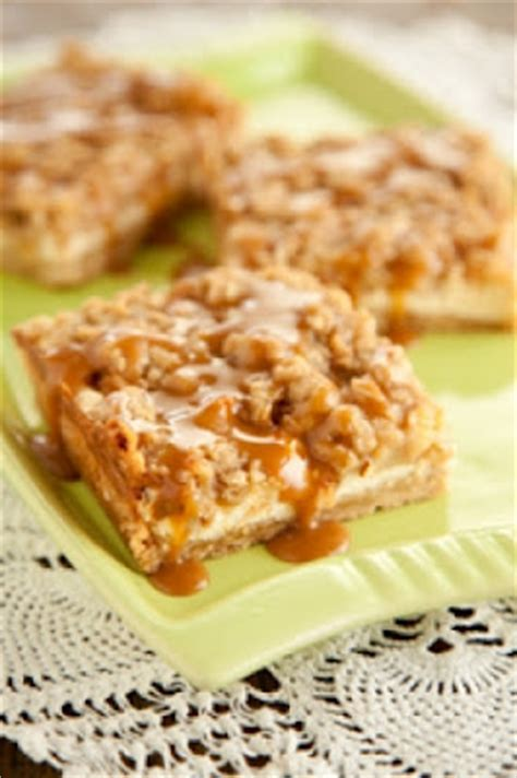 Caramel Apple Cheesecake Bars With Streusel Topping by Caramel Apple Cheesecake Bars With Streusel Topping Cook