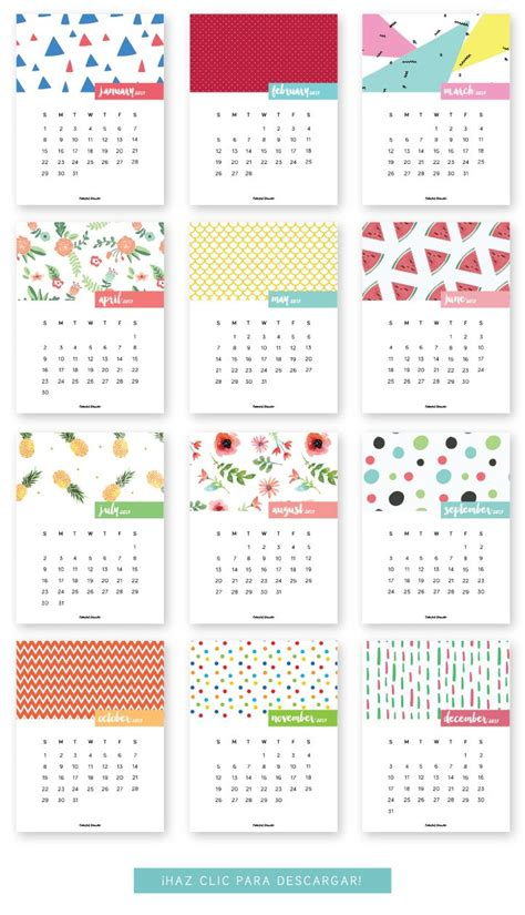 printable calendar english m 225 s de 1000 ideas sobre 2017 calendar printable en