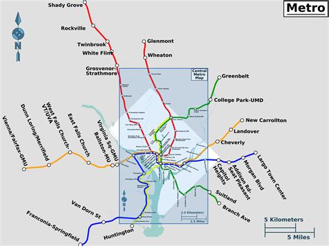 washington dc map scale file outer metro system map to scale png wikimedia commons