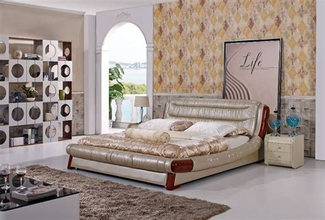 large bedroom furniture the modern designer leather soft bed large double