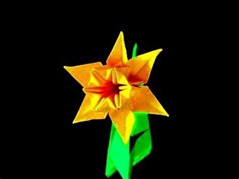 Origami Daffodil - how to make an origami daffodil