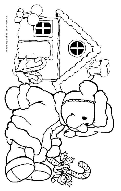 christmas cartoon coloring page christmas scene