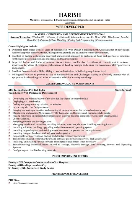 developer resume sample agi mapeadosencolombia co