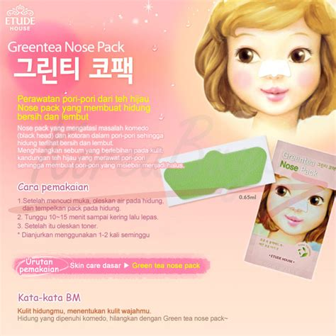Etude House Green Tea Nose Pack Ad Review Etude House Greentea Nose Pack