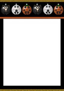 Halloween Letter Templates Best Photos Of Paper Halloween Templates Free Printable