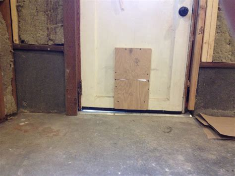 exterior door threshold how can i adjust for an uneven exterior door threshold