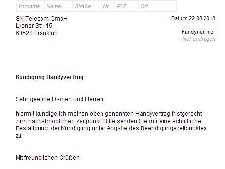 Vorlage Handy Abo Kündigen Erfahrungen Berichte Screenshots Welches Image Hat Die