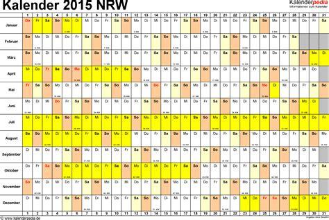 Nrw Kalender 2015 Kalender 2015 Nrw Ferien Feiertage Excel Vorlagen