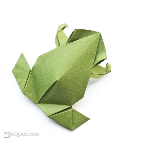 Single Sheet Origami - pre columbian frog by leyla torres