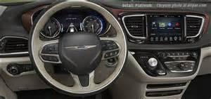 Chrysler Dashboard Inside The 2017 Chrysler Pacifica Minivans Cabin