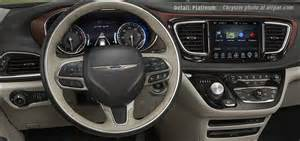 Chrysler Pacifica Dashboard Inside The 2017 Chrysler Pacifica Minivans Cabin