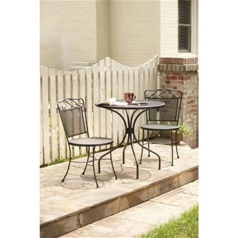 black wrought iron patio set wrought iron black 3 patio bistro set w3929 3pc bk