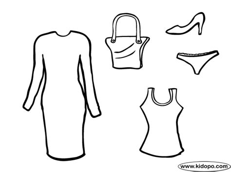 Clothes Coloring Pages Woman Clothes Coloring Page by Clothes Coloring Pages