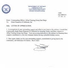 navy letter of appreciation template letter appreciation exles usmc best free home