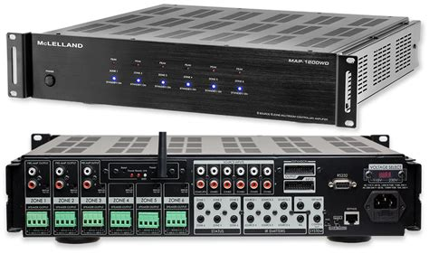 home audio systems multi room mclelland map 1200wd 6 zone multi room audio lifier