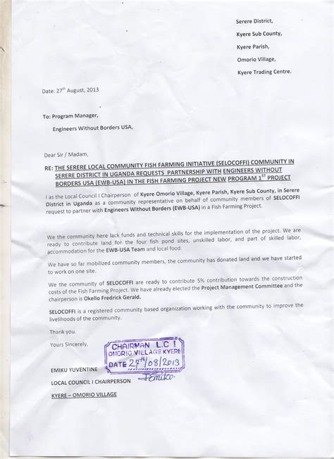 Official Letter Format Kenya Application Letter Sle Application Letter Sle In Kenya