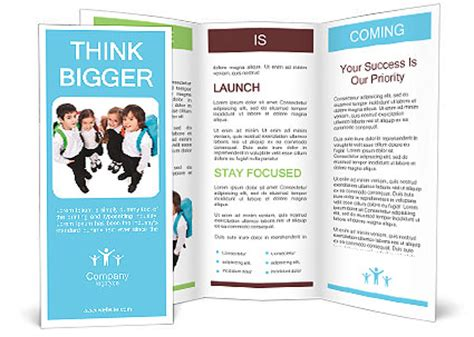 brochure templates for students cheerful students with backpacks standing brochure