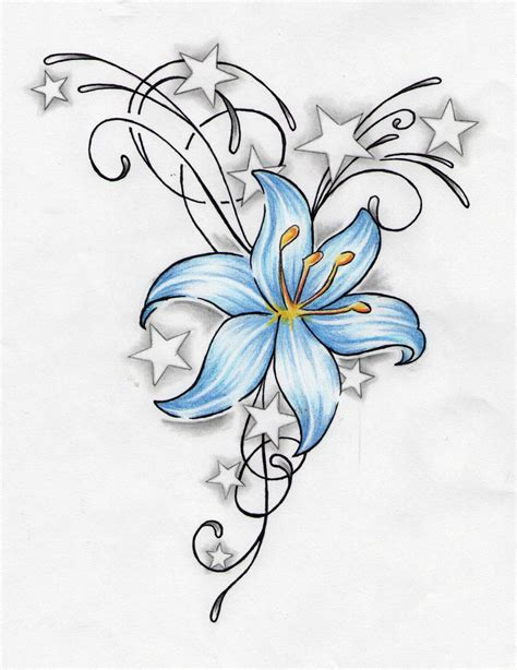flower and star tattoo designs 26 tattoos designs