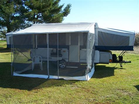 pop up cer awning screen room coleman fleetwood deluxe screen room ebay