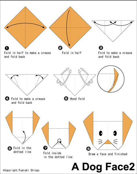 En Origami Club - http en origami club easy animal face2
