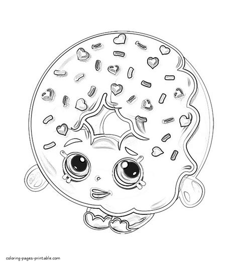shopkins donut coloring page dlish donut shopkins coloring pages season 1 shopkins