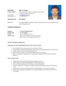 resume of mr roy2 entry level resume sle resumesplanet com