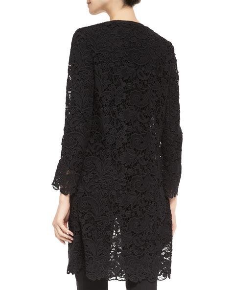 Ralph lauren black label Thora Lace Duster Coat in Black   Lyst