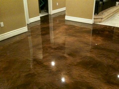Polished Concrete As A Possible Kitchen Floor Or The Concrete Basement Floor Ideas