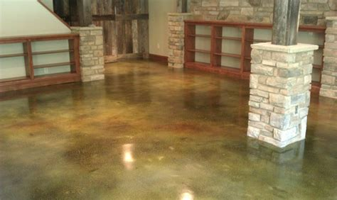 Stained Concrete Flooring   Traditional   Basement   St