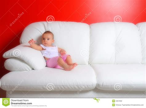 couch baby baby in the sofa stock photography image 3457032
