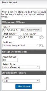 Allegheny College Calendar Add Event To Master Calendar 171 Conference And Event