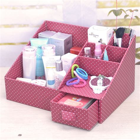 diy storage box ideas diy makeup organizer with catchy look
