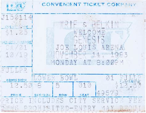genesis tickets ticket genesis joe louis arena detroit 14th