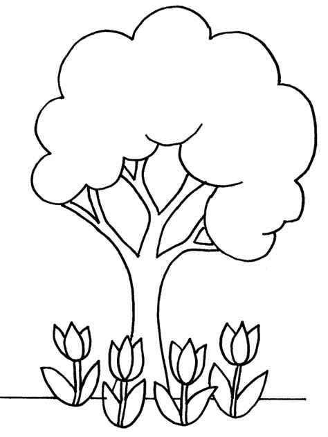 tree outline printable clipart