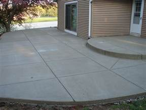 building a concrete patio section by section can this